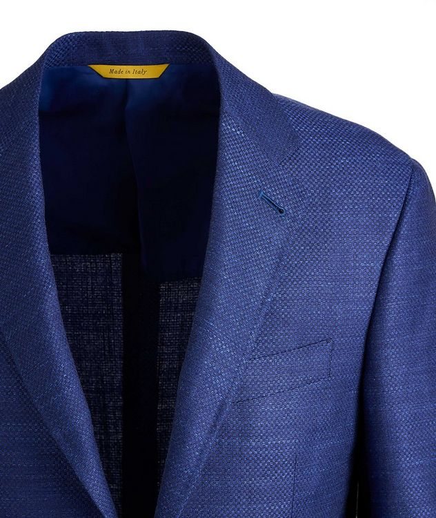 Kei Crosshatched Wool, Silk, and Linen Sports Jacket picture 3