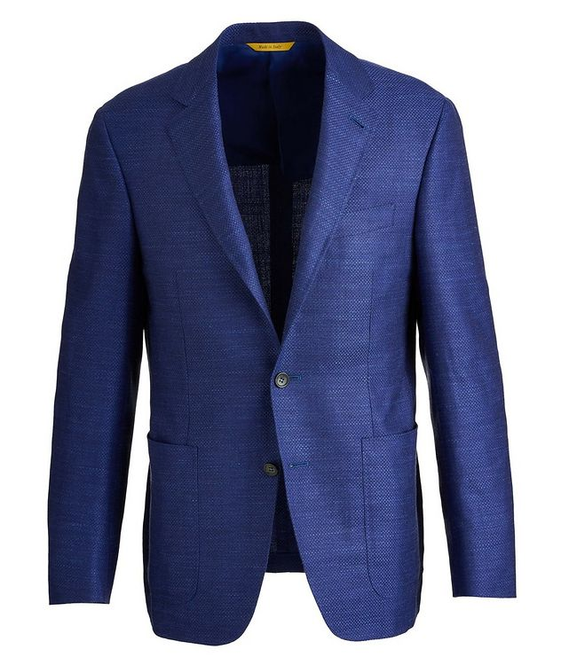 Kei Crosshatched Wool, Silk, and Linen Sports Jacket picture 1