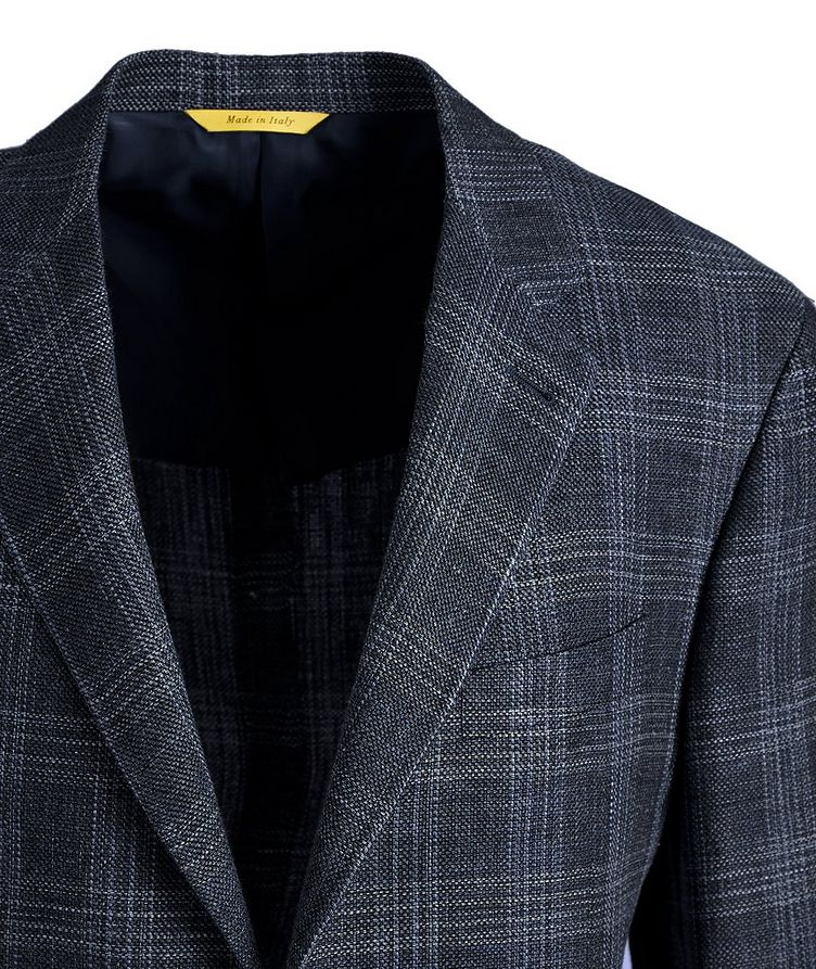 Kei Checked Linen-Wool Sports Jacket image 1