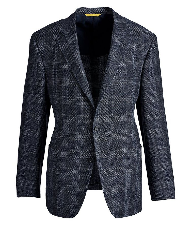 Kei Checked Linen-Wool Sports Jacket image 0