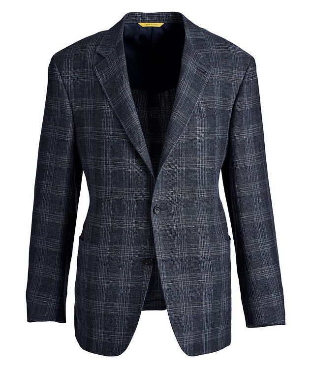 Kei Checked Linen-Wool Sports Jacket picture 1