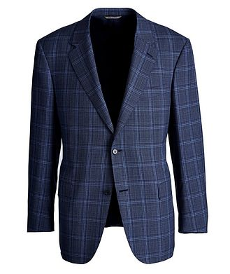 Canali Travel Checked Wool Sports Jacket