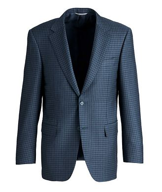Canali Gingham Wool Sports Jacket