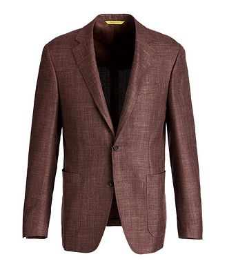 Canali Kei Wool, Silk, and Linen Sports Jacket