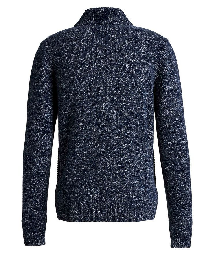 Knit Cashmere Zip-Up Sweater image 1