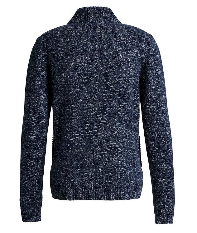 Knit Cashmere Zip-Up Sweater picture 2