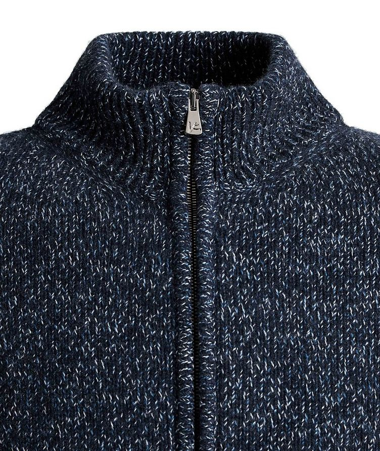 Knit Cashmere Zip-Up Sweater image 2