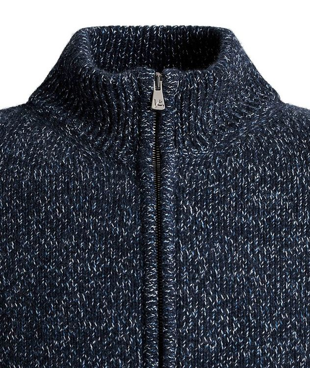 Knit Cashmere Zip-Up Sweater picture 3