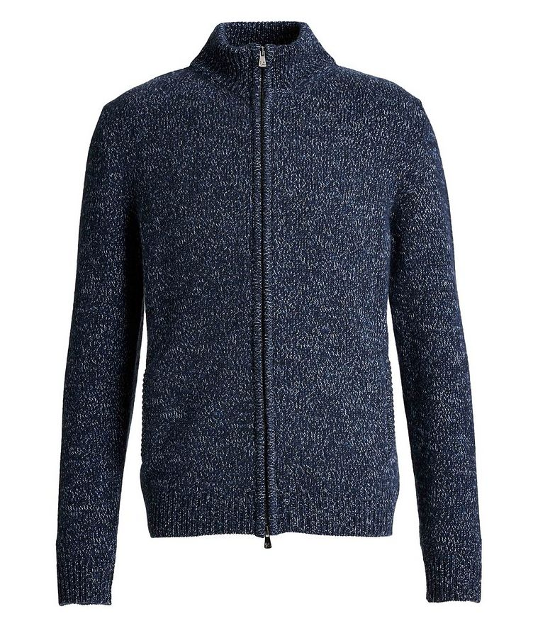 Knit Cashmere Zip-Up Sweater image 0