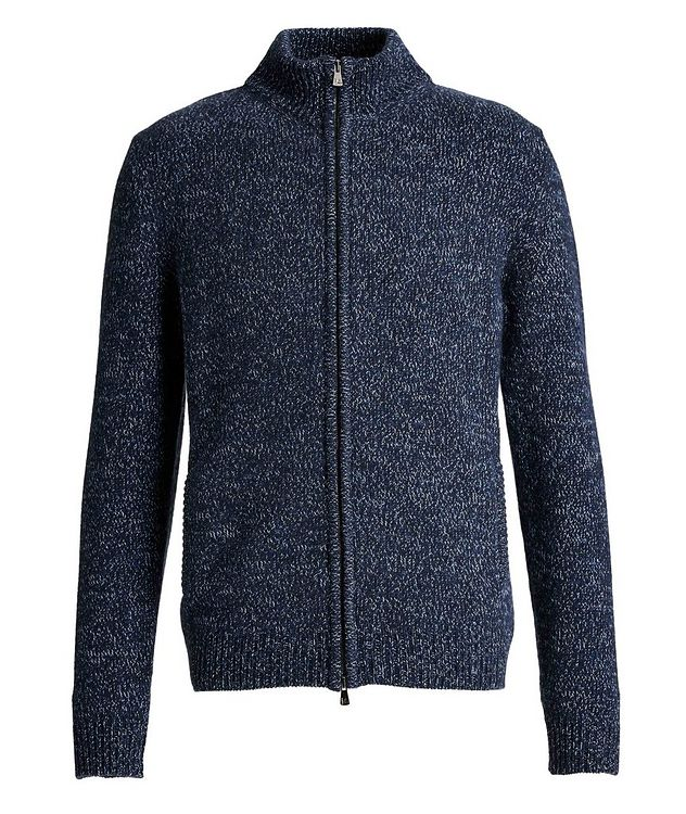 Knit Cashmere Zip-Up Sweater picture 1