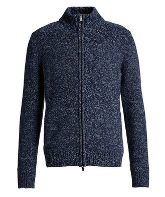 Isaia Knit Cashmere Zip-Up Sweater