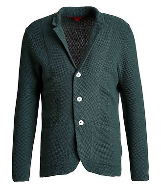Isaia Wool-Knit Sweater Cardigan