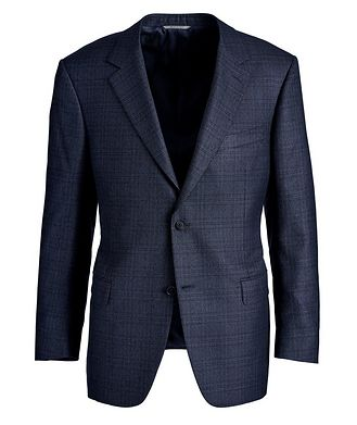 Canali Checked Silk-Wool Sports Jacket