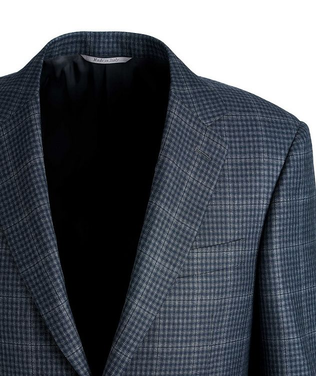 Checked Silk-Wool Sports Jacket picture 2
