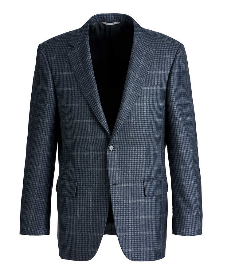 Checked Silk-Wool Sports Jacket image 0