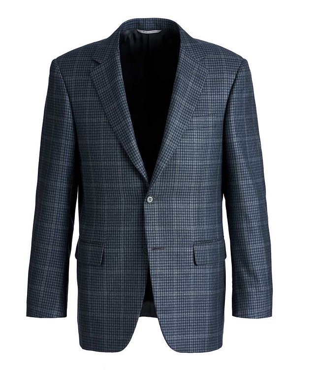 Checked Silk-Wool Sports Jacket picture 1