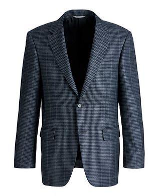Canali Checked Silk-Wool Sports Jacket