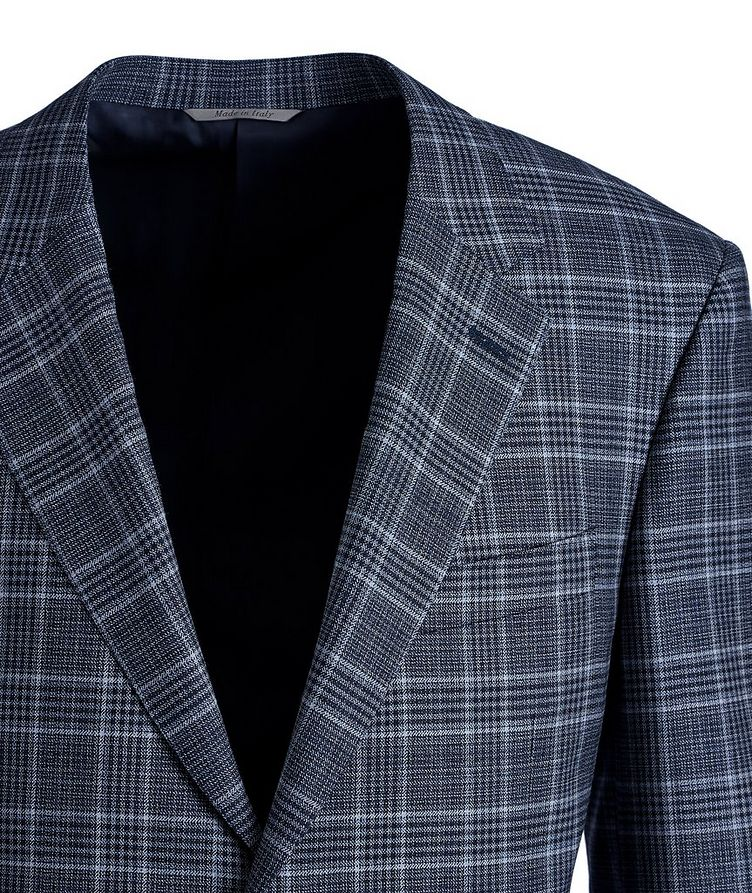 Veston Natural Comfort en laine à carreaux prince-de-Galles image 1