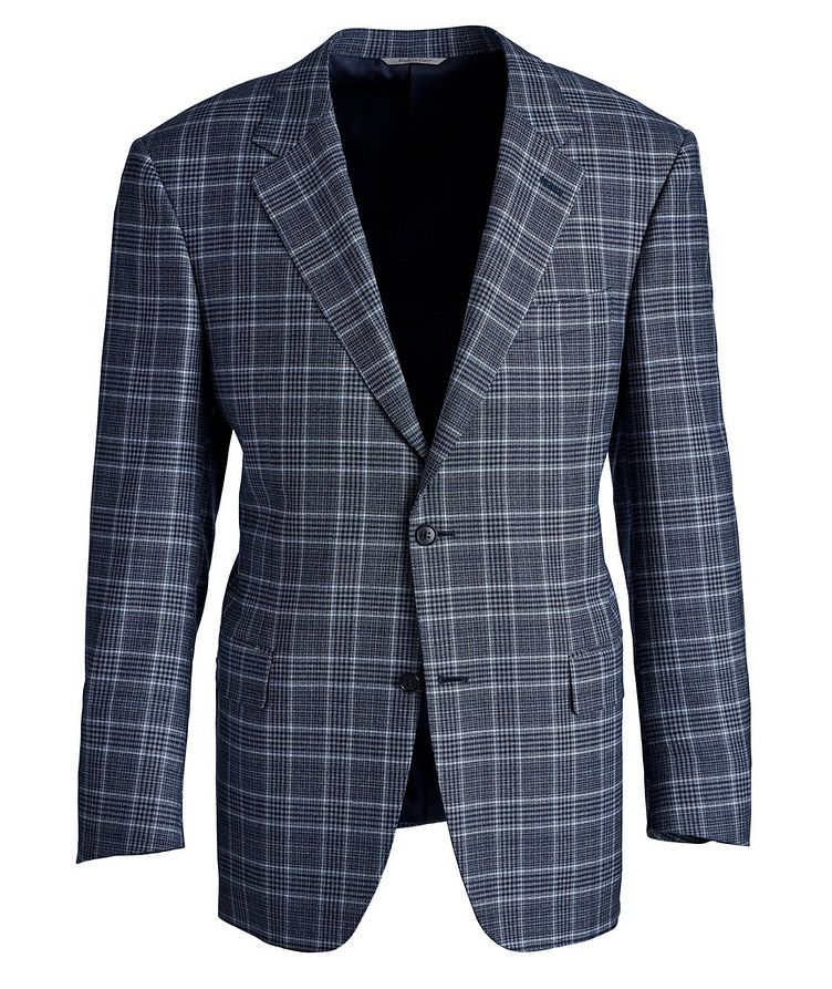 Veston Natural Comfort en laine à carreaux prince-de-Galles image 0