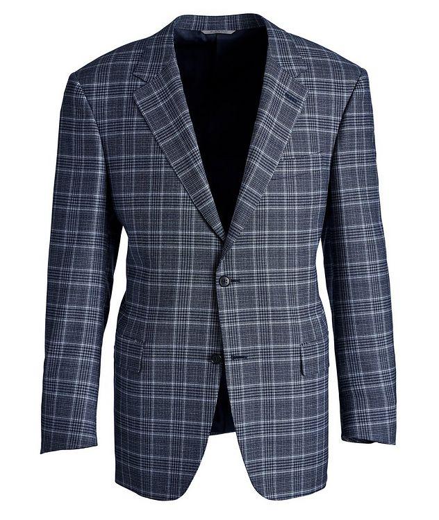 Veston Natural Comfort en laine à carreaux prince-de-Galles picture 1