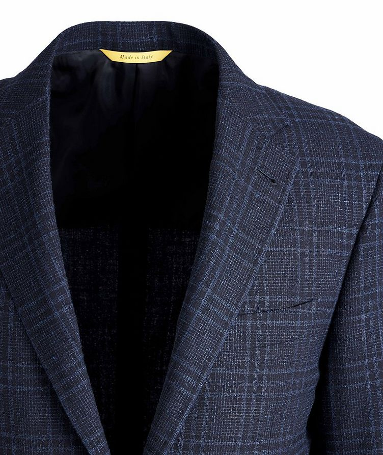 Kei Checked Wool, Silk, and Linen Sports Jacket image 1