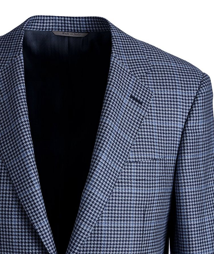 Exclusive Houndstooth Cashmere-Silk Sports Jacket image 1