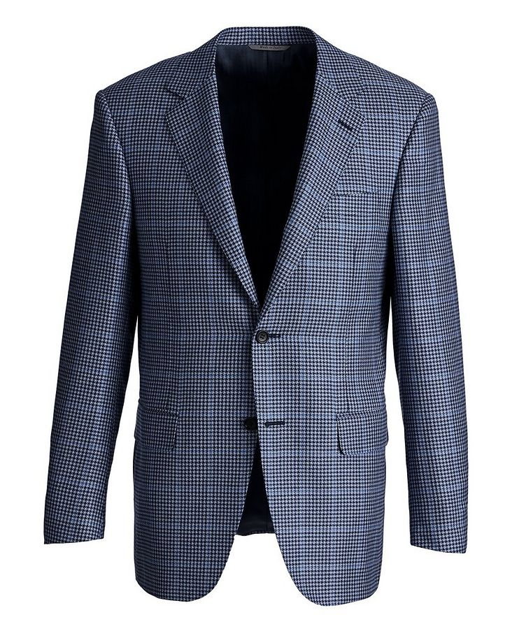 Exclusive Houndstooth Cashmere-Silk Sports Jacket image 0