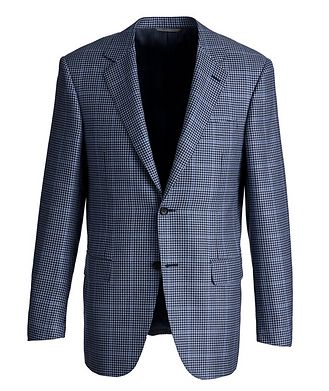 Canali Exclusive Houndstooth Cashmere-Silk Sports Jacket