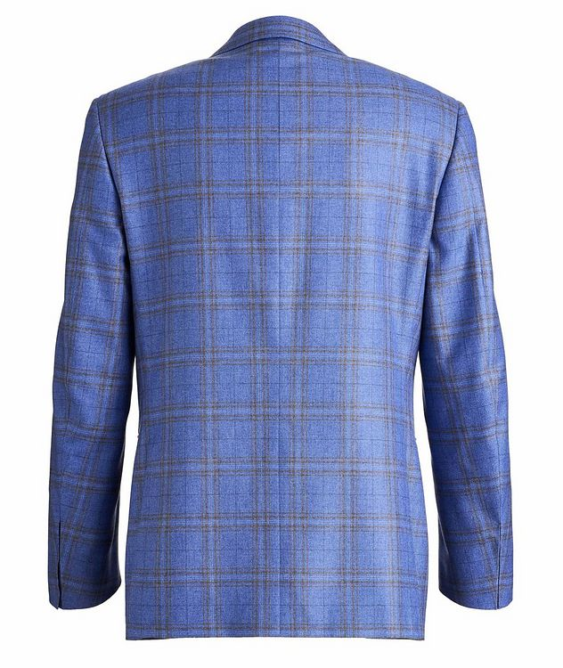 Checked Silk-Cashmere Sport Jacket picture 2