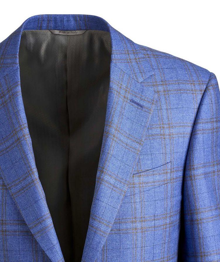Checked Silk-Cashmere Sport Jacket image 2