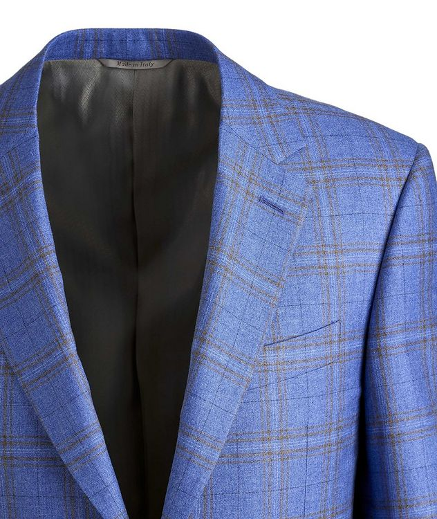Checked Silk-Cashmere Sport Jacket picture 3