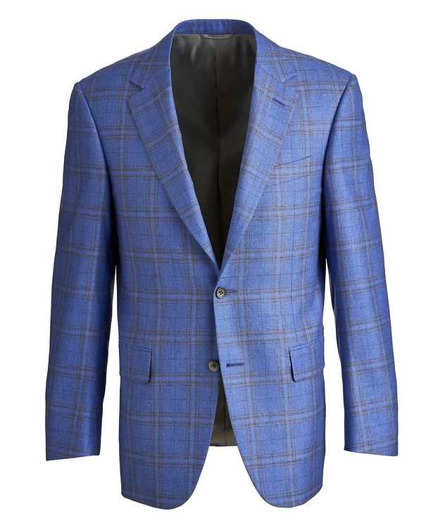 Checked Silk-Cashmere Sport Jacket picture 1