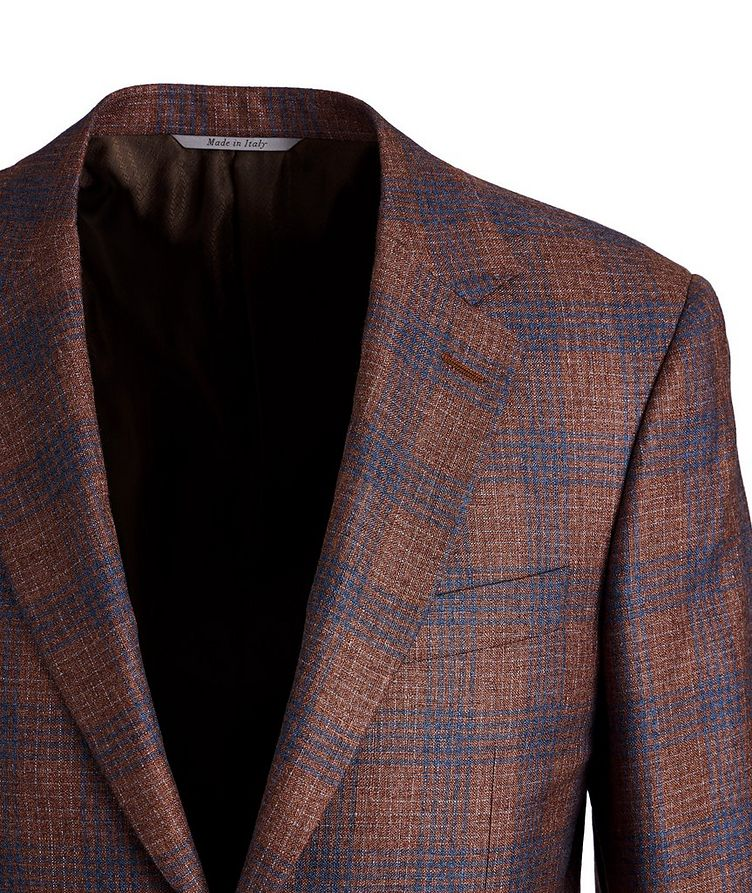 Exclusive Checked Silk-Cashmere Sports Jacket image 1