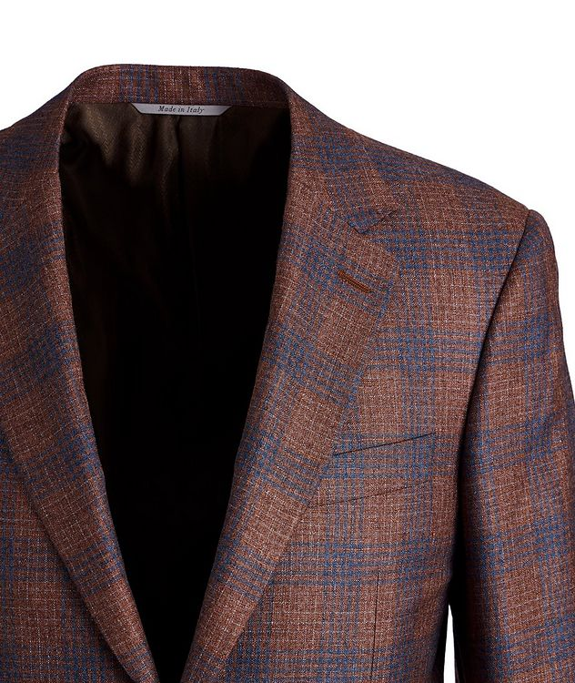 Exclusive Checked Silk-Cashmere Sports Jacket picture 2