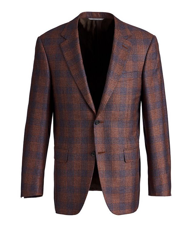 Exclusive Checked Silk-Cashmere Sports Jacket picture 1