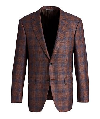 Canali Exclusive Checked Silk-Cashmere Sports Jacket