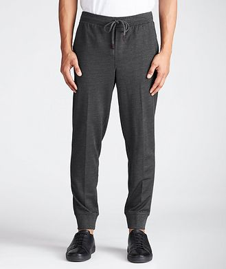 Ermenegildo Zegna Drawstring Wool, Silk & Cotton Joggers