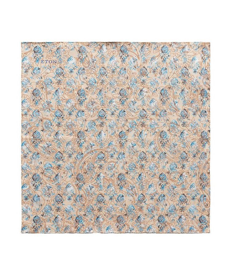 Printed Linen Pocket Square image 0