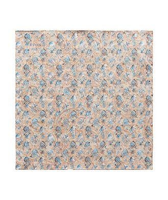Eton Printed Linen Pocket Square