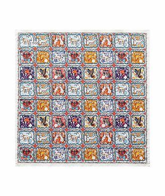 Eton Printed Cotton Pocket Square