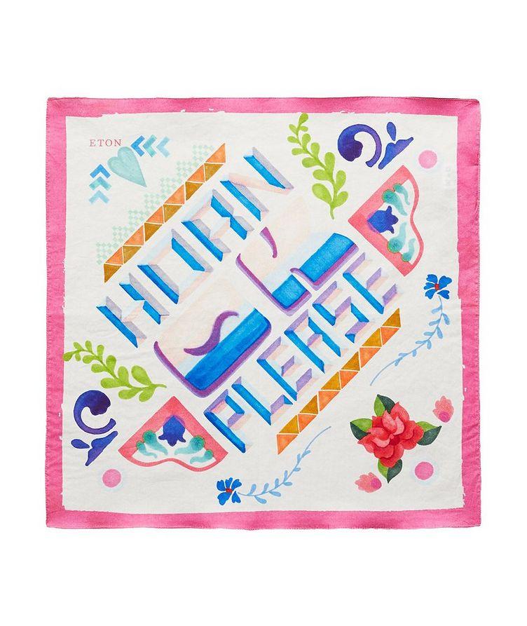 Printed Cotton Pocket Square image 0