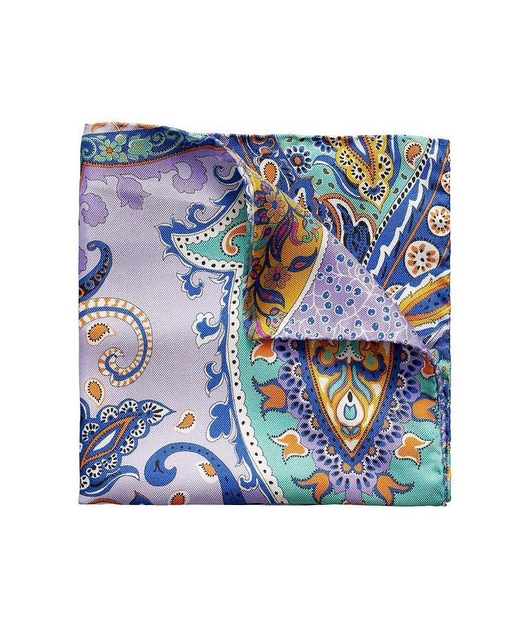 Printed Linen Pocket Square image 0