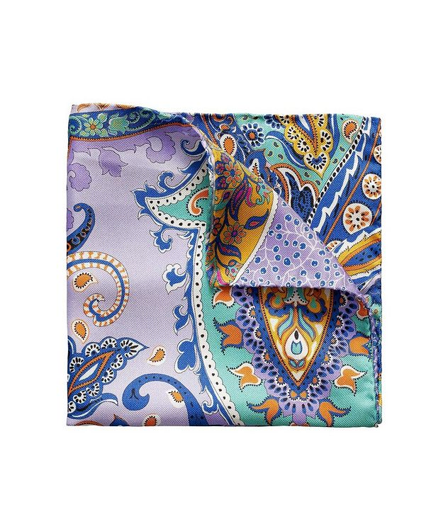 Printed Linen Pocket Square picture 1