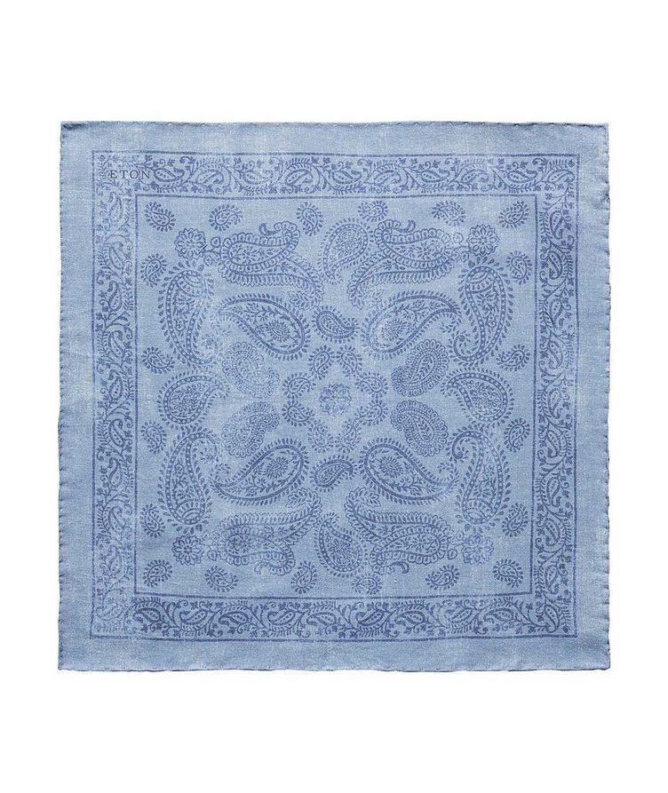 Printed Cotton-Silk Pocket Square image 0