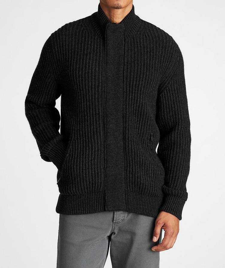 Fisherman's Knit Cashmere Cardigan image 1