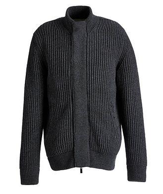 Ermenegildo Zegna Fisherman's Knit Cashmere Cardigan