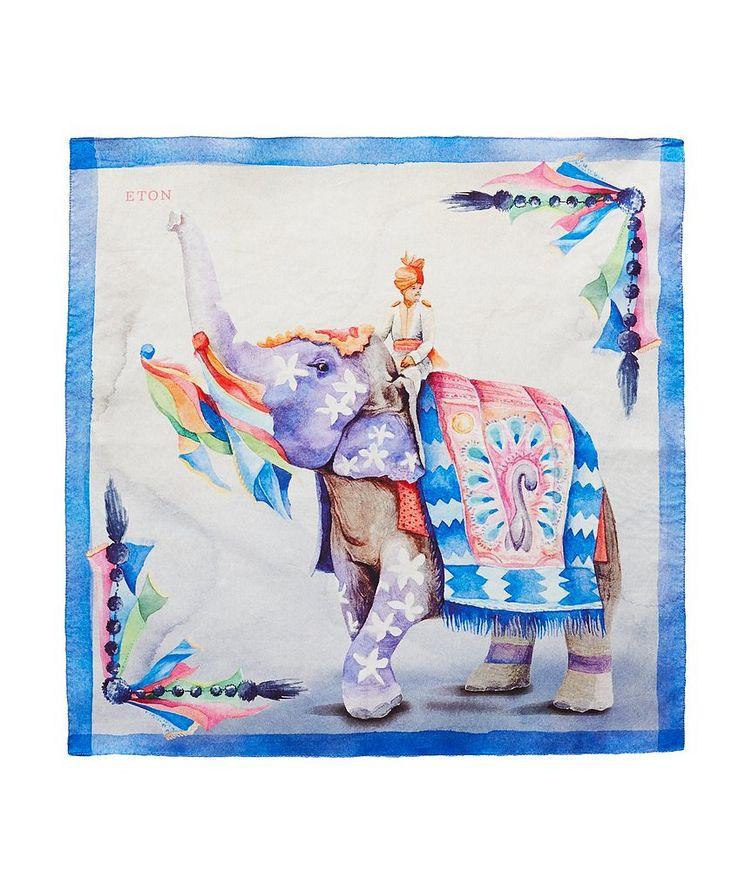 Mouchoir de poche imprimé en coton image 0