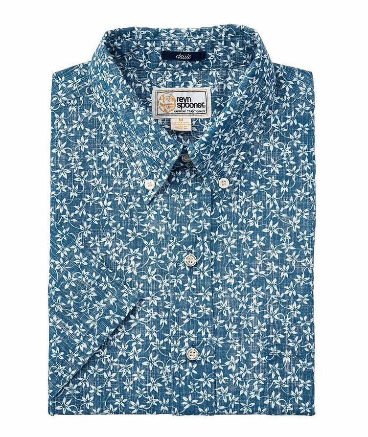 Short-Sleeve Classic Fit Floral-Printed Shirt image 0