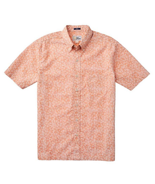 Short-Sleeve Printed Cotton-Blend Shirt picture 2