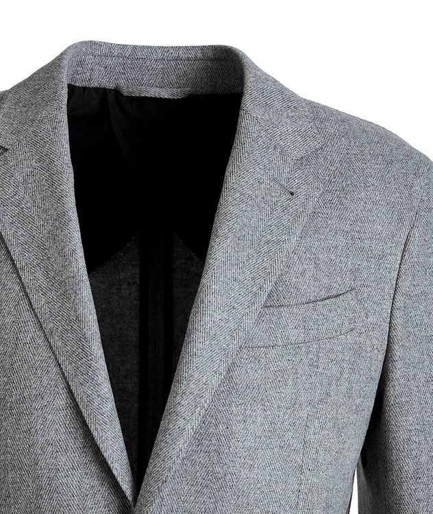 Herringbone Wool-Cashmere Sports Jacket picture 3